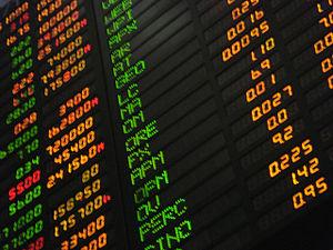English: Phillippine stock market board